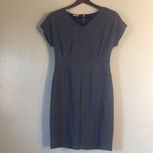 V-neck Black&Grey Dress